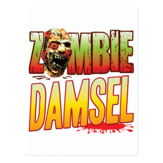 Cabeza del zombi de la damisela postal