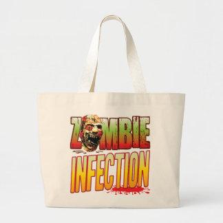 Cabeza del zombi de la infección bolsas de mano