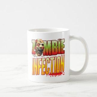 Cabeza del zombi de la infección tazas de café