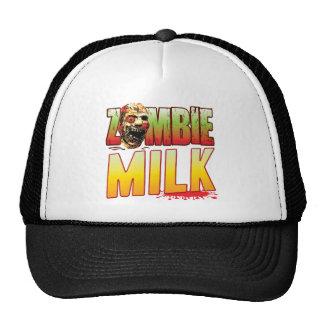 Cabeza del zombi de la leche gorra
