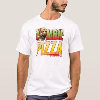 Cabeza del zombi de la pizza playera