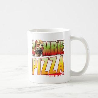 Cabeza del zombi de la pizza taza