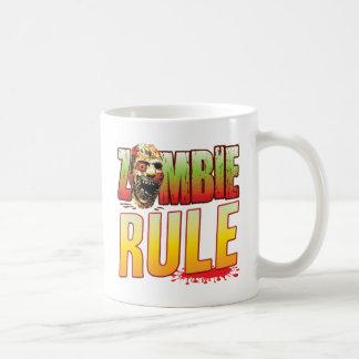 Cabeza del zombi de la regla taza básica blanca