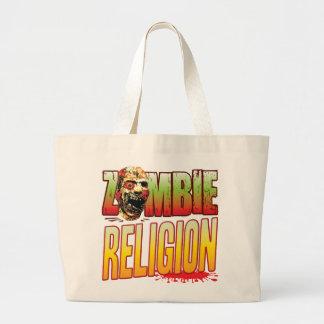 Cabeza del zombi de la religión bolsa