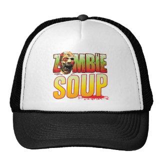 Cabeza del zombi de la sopa gorro de camionero