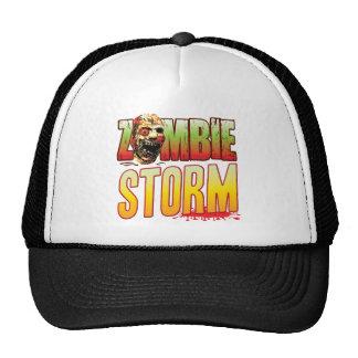 Cabeza del zombi de la tormenta gorras