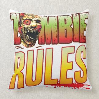 Cabeza del zombi de las reglas almohada