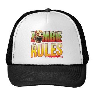 Cabeza del zombi de las reglas gorra