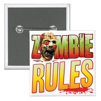 Cabeza del zombi de las reglas pin