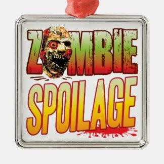 Cabeza del zombi de los desperdicios ornamentos de reyes
