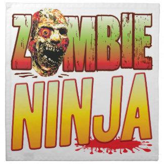 Cabeza del zombi de Ninja Servilletas De Papel