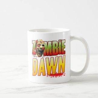 Cabeza del zombi del amanecer taza básica blanca