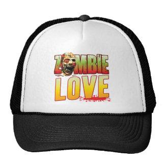 Cabeza del zombi del amor gorra