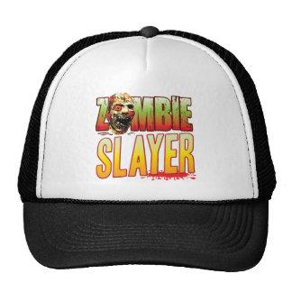 Cabeza del zombi del asesino gorras de camionero