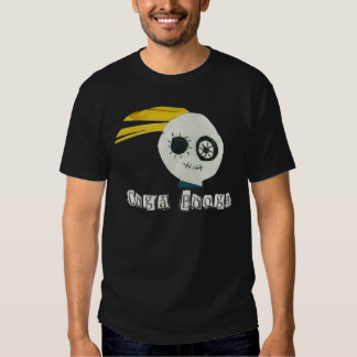 cabeza del zombi del booga del ooga camisas