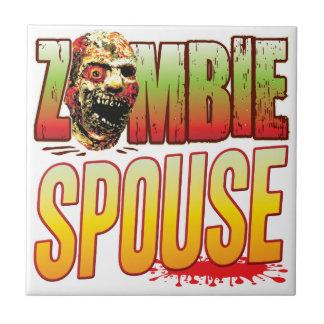 Cabeza del zombi del cónyuge teja  ceramica