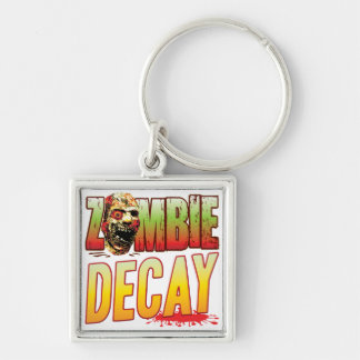 Cabeza del zombi del decaimiento llaveros personalizados