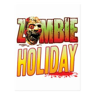 Cabeza del zombi del día de fiesta tarjeta postal