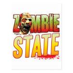 Cabeza del zombi del estado postal