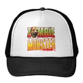 Cabeza del zombi del gángster gorras