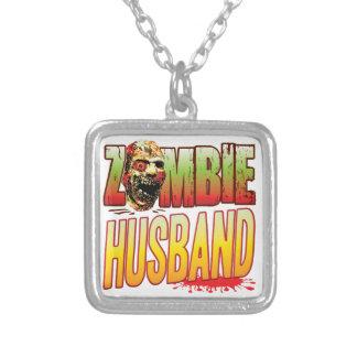 Cabeza del zombi del marido collar personalizado