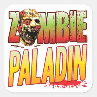 Cabeza del zombi del paladín pegatinas cuadradas personalizadas