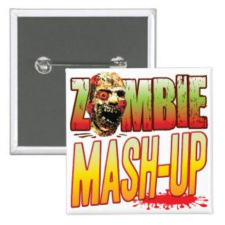 Cabeza del zombi del Puré-Para arriba Pin