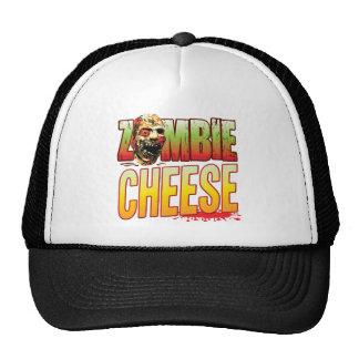 Cabeza del zombi del queso gorros bordados