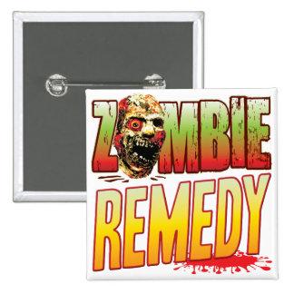 Cabeza del zombi del remedio pins
