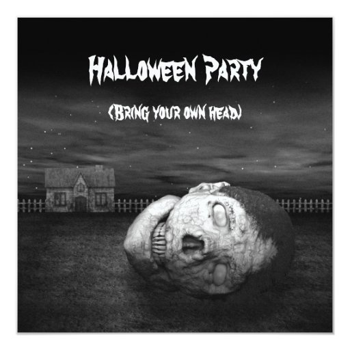Cabeza del zombi - invitación del fiesta de