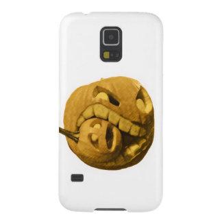 Cabeza divertida de la calabaza de Halloween Carcasa De Galaxy S5