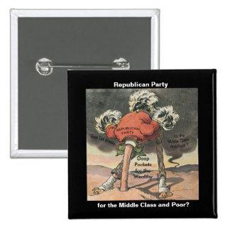 Cabeza en el Partido Republicano de la arena Pin Cuadrado