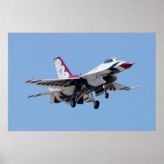 Cabeza en U.S.A.F. Thunderbird 7 Póster