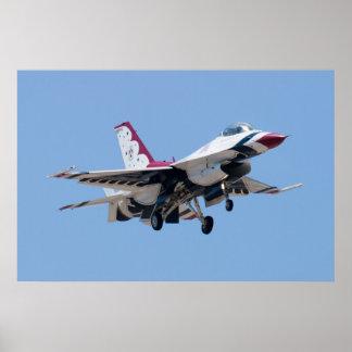 Cabeza encendido con los Thunderbirds #7 del Póster