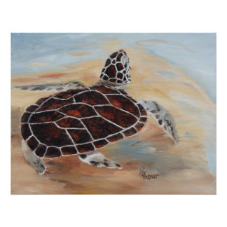 Cabeza encima de la impresión de la tortuga impresiones
