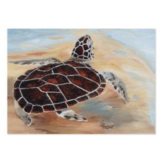 Cabeza encima de la tarjeta del arte de la tortuga tarjetas de visita grandes