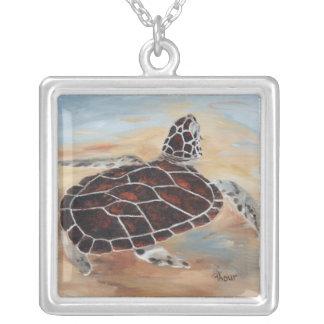 Cabeza encima del collar de la tortuga