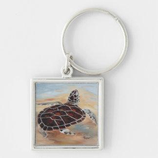 Cabeza encima del llavero de la tortuga