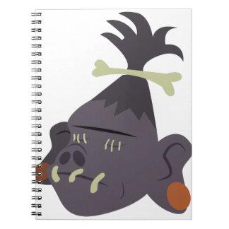 Cabeza encogida cuaderno