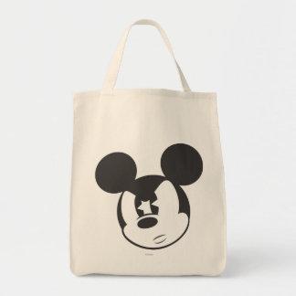 Cabeza enojada clásica de Mickey el | Bolsa Tela Para La Compra