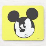 Cabeza enojada clásica de Mickey el | Tapete De Ratones