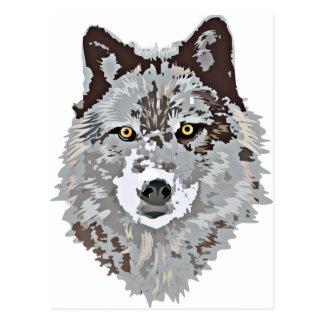Cabeza estilizada del lobo postal
