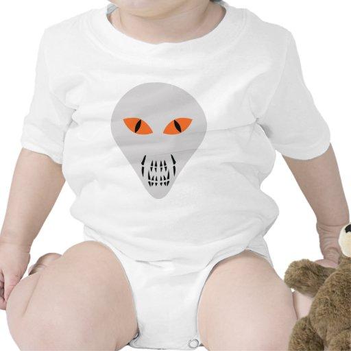 cabeza extranjera asustadiza traje de bebé
