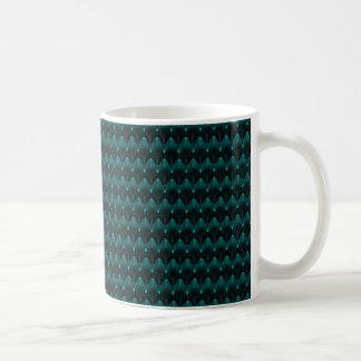 Cabeza extranjera azul de neón tazas