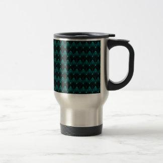 Cabeza extranjera azul de neón tazas de café