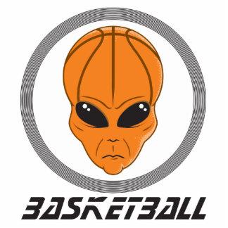 cabeza extranjera del baloncesto con el texto esculturas fotográficas