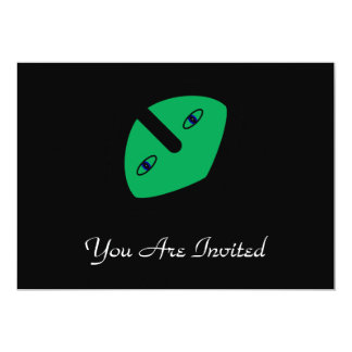 Cabeza extranjera en verde comunicado personal