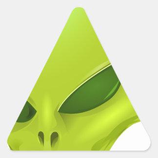 Cabeza extranjera pegatina triangular
