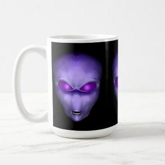 Cabeza extranjera púrpura taza de café