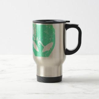 Cabeza extranjera tazas de café